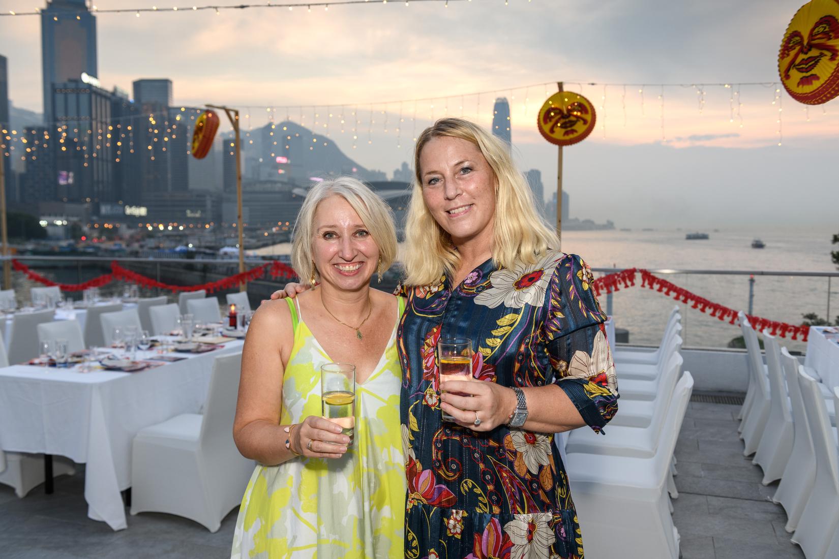 Hong Kong,China:17 Sep,2021.  Swedcham Crayfish dinner Jayne Russell